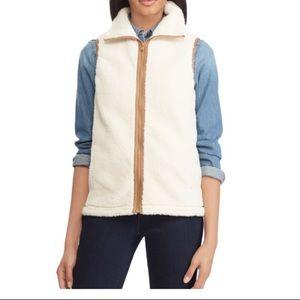 NWOT Chaps cream Sherpa fleece vest